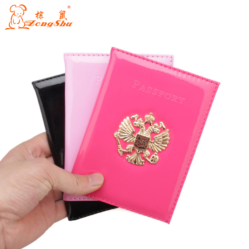 Unisex Luxury PU Leather Travel Men Multiple Nation Emblem Passport Cover Cheap Cute Waterproof Family Passport Holder For Lady