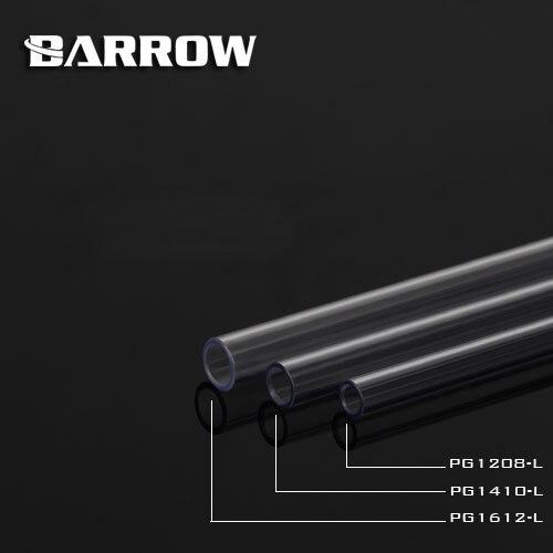 Купить с кэшбэком 2pcs/lot Barrow PETG Hard Tube ID8mm/OD12mm - ID10mm/OD14mm -ID12mm/OD16mm Length 50cm PETG Tube/water cooling cooler block tube