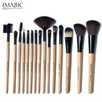 IMAGIC 15pcs Makeup Brush Set High Quality Soft Synthetic Hair Professional Makeup Artist Brush Tool Kit