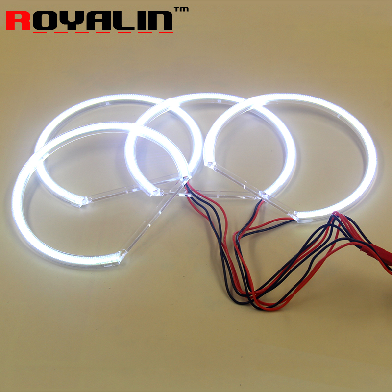 For BMW E46 E39 E36 131mm*4 LED SMD Angel Eyes Halo Rings White Kit 3 5 series Car Headlight Daytime Runing Lights DRL Retrofit  39smd 5050rgb flash smd led angel eyes halo rings daytime running light for bmw e46 5 e46 compact 2000 2004 fd 4411