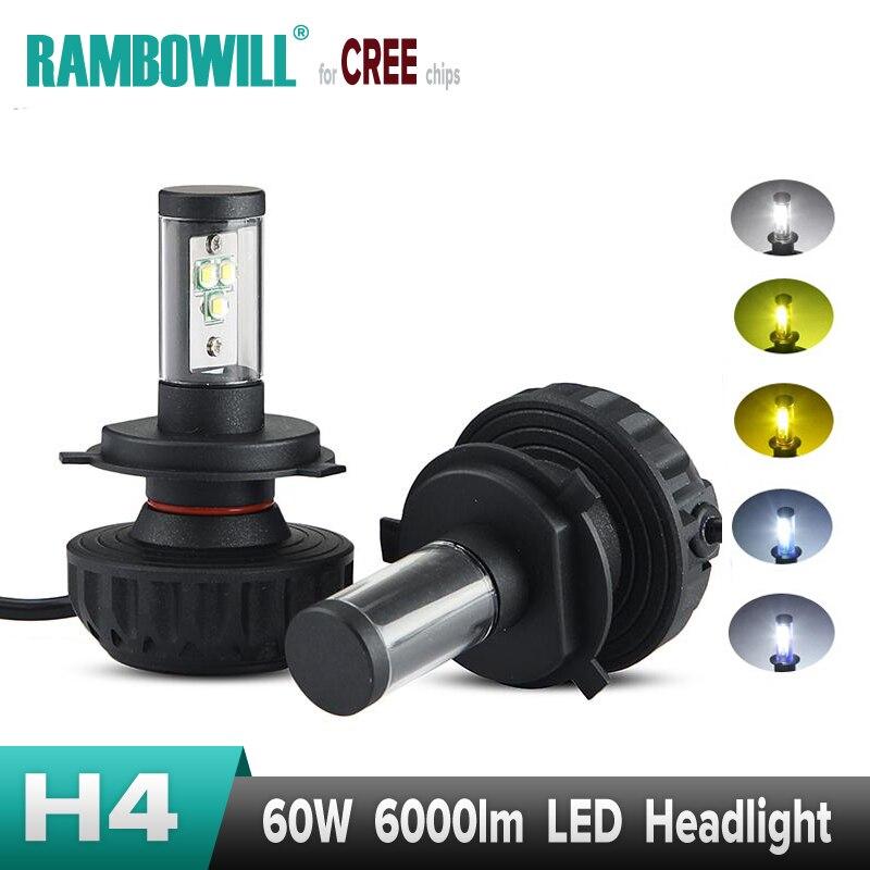 2x H4 H7 60W Car LED Headlight Bulbs External Lights Work Light H11 H13 9005 9006 CREE Chips Fog Single Hi-Lo Beam DRL