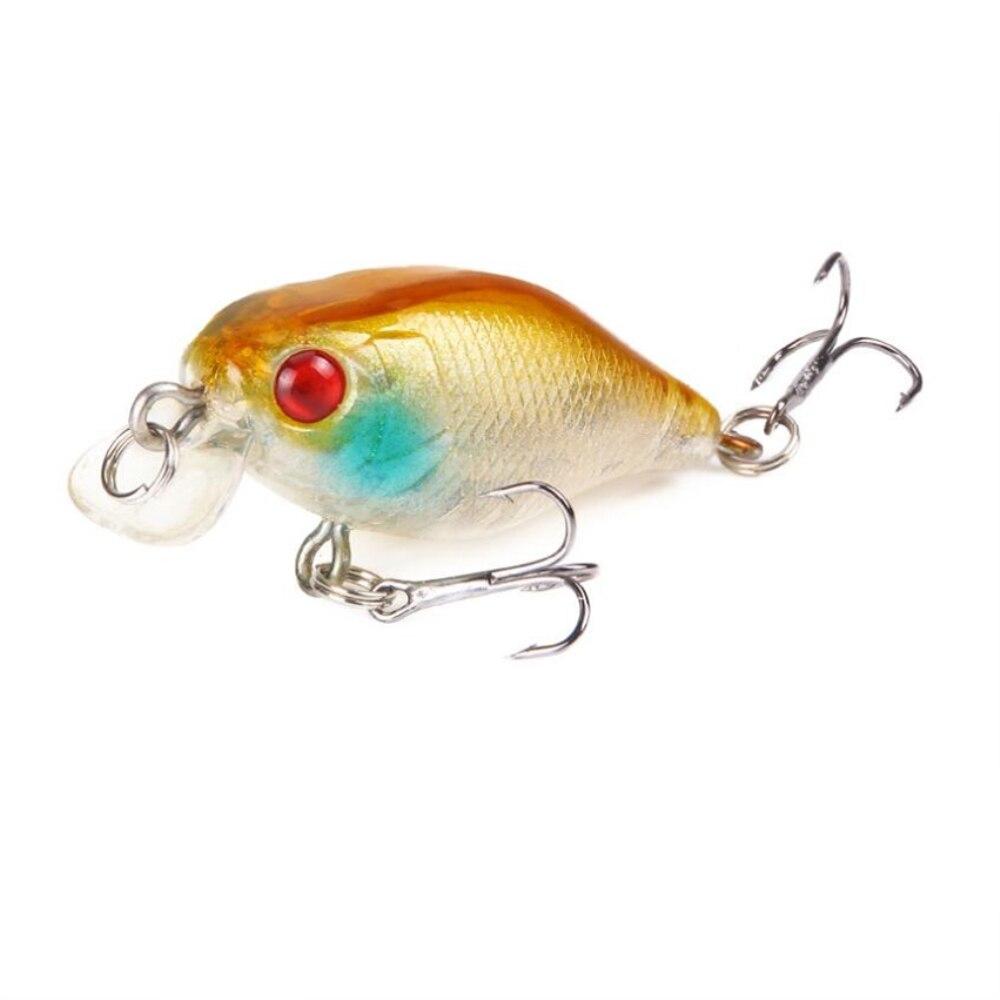 1pcs 4.3g 4.5cm Crankbait Fishing Lures Plastic Hard Crank Bait Artificial Lure Perch Carp Fishing Pesca Wobbler Fishing Tackle