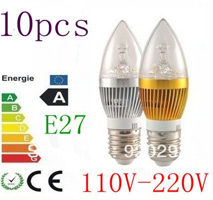E27 <font><b>LED</b></font> Candle light bulbs 9W 12W <font><b>15W</b></font> Dimmable chandelier lamps <font><b>220v</b></font>/110v gold/silver shell image