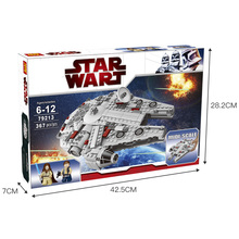 Compatible LegoINGlys Star Wars Set Millennium Falcon Factory Sale Mini Model Building Blocks Plastic Figure Toy Bricks 367 Pcs