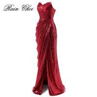 Long Evening Dresses 2019 Floor Length Elegant Prom Gowns Sequins Formal Party Dress