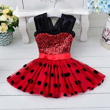2016 New Cute Kids Baby Girls Party Dress Vest Skirt Toddler Clothes 1-4Year