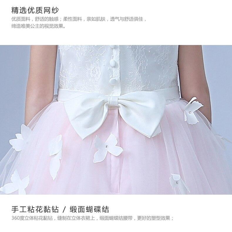 37bd13aa70e36 US $41.53 40% OFF|Aliexpress.com : Buy Formal Princess Long Girls Dress  Wedding White Pink Fancy Flower Girl Vestido 2018 Kid Clothes 3 4 6 8 10 12  14 ...