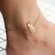 wholesale New fashion trendy foot jewelry Bohemia style cute crystal pineapple anklet gift for women girl drop shipping