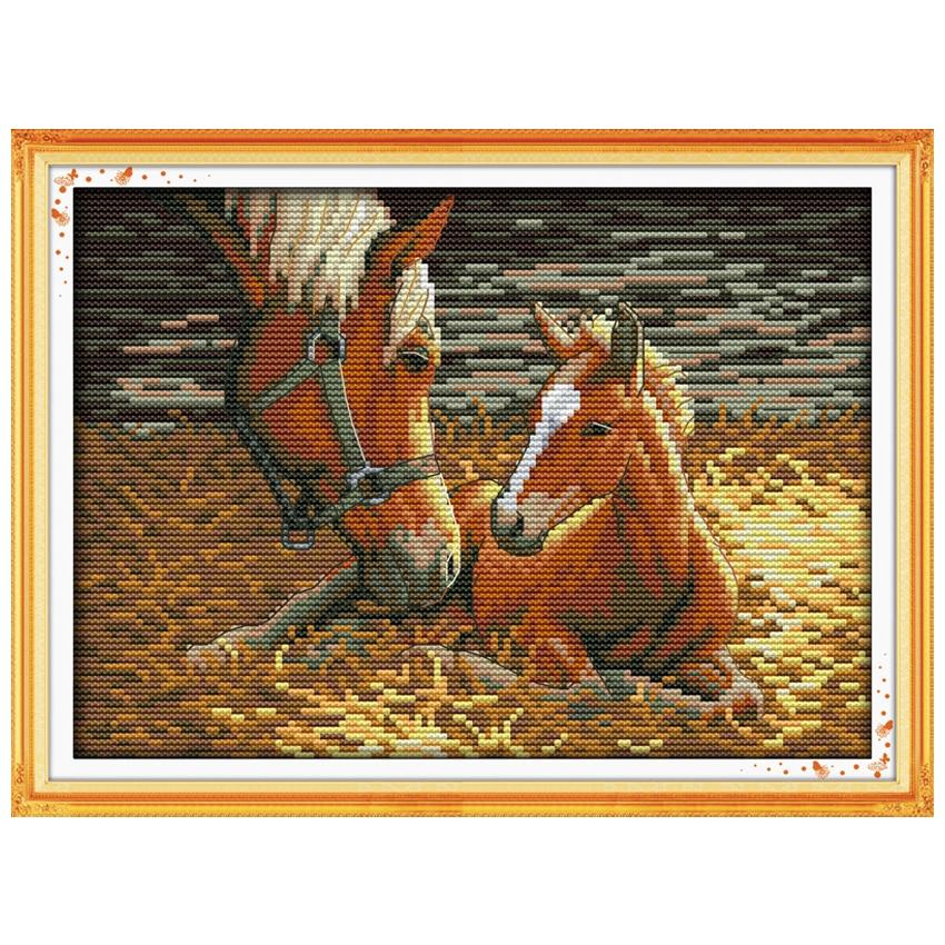 Diepe liefde (2) Patronen geteld Kruissteek 11 14CT Kruissteeksets - Kunsten, ambachten en naaien