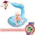 VENTA y Compra de Una Piscina Anillo de Conseguir Un Frisbee Preescolar Verano Juguete del bebé Pequeña Piscina Inflable Whale Shape Agua Trampolín Para niños