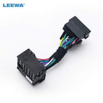 LEEWA 36pin męski Adapter złącza, aby 40pin kobiet samochodowy panel główny Stereo Quadlock kable w wiązce dla volkswagen głowy jednostka Audio