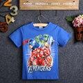 Avengers Niños Niños Niños Ropa Tops de las Camisetas Del Bebé Niño Héroe Capitán HULK Spiderman Camiseta La camiseta Vestuario