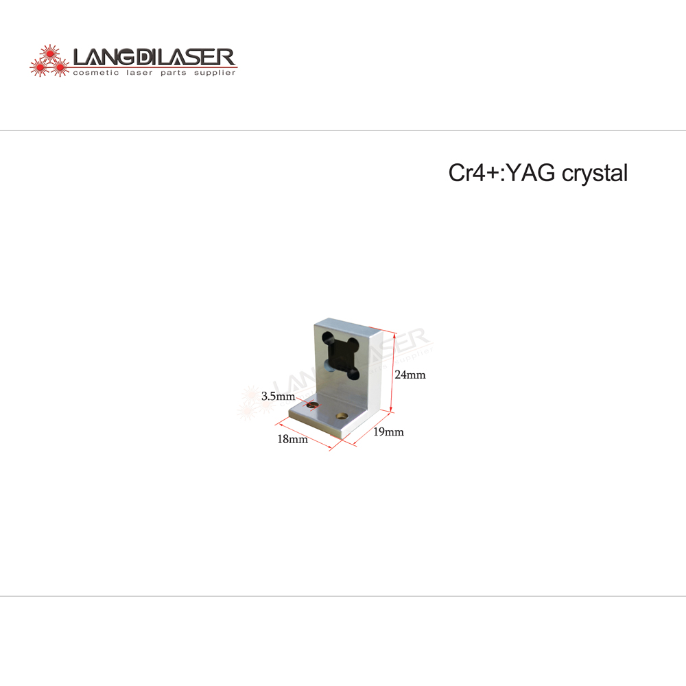 Cr4+:YAG Crystal , Size : 8*8*4mm ,for YAG Laser Headpiece
