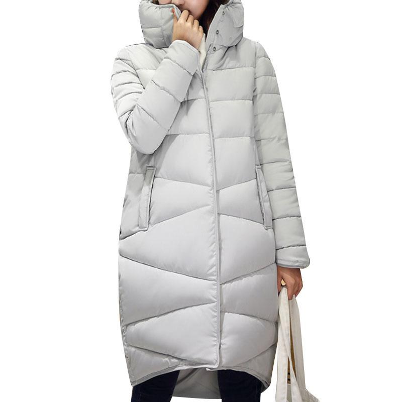 ФОТО 2016 Winter New Fashion Long Coat Slim Thickened Turtleneck Warm Jacket Cotton Padded Zipper Plus Size Outwear Casacos 4 Colors
