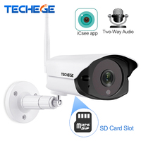 Techege 1080P HD Wifi IP camera Outdoor indoor 2MP Wireless Wired Security Camera Motion Detection Intercom TF card slot