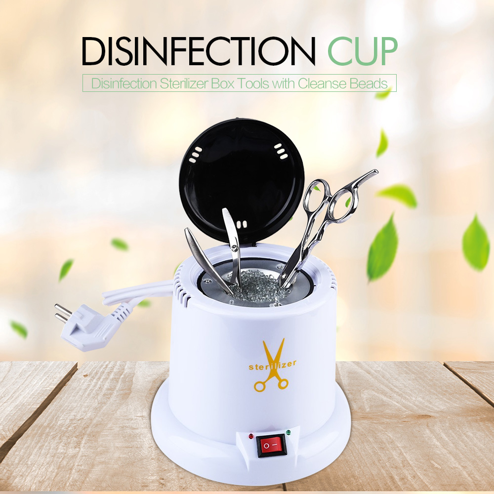 Gustala 220V High Temperature Manicure Disinfection Cup Nail Equipment Machine Disinfection Sterilizer Box Tools Cleanse Beads