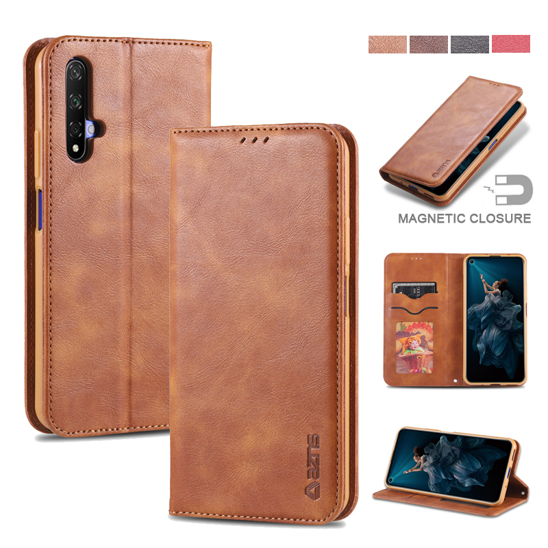 Luxury Leather Case For Huawei Honor 20 Card Solt Flip Cover For Huawei Honor 20 20 Pro Case Stander Funda Cover