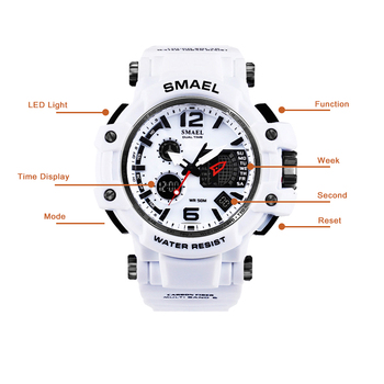 SMAEL Men Quartz Digital Watch Mens Sport Watches Electronic Military Wrist watch Male Waterproof Clock 1509 Relogios Masculino 1