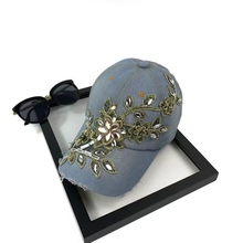 Женская бейсбольная кепка Алмаз живописи цветок вышивка джинсовые snapback шляпы ковбойские джинсы женщина женский летнее солнце шляпу