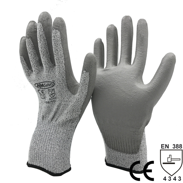 NMSafety 1 Pair Cut Level 3 EN388 4343 Protective Safety Work Gloves