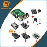 UK RS Version Raspberry Pi 3 Heat Sink Fan Case For Raspberry Pi 3 B Free