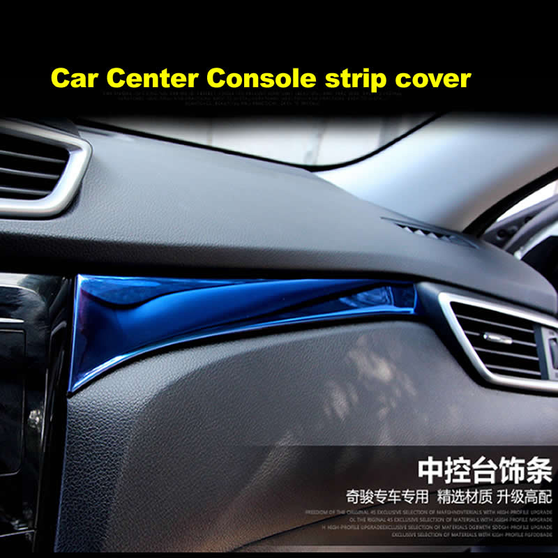 Metal Chrome Center Console Glovebox Decoration Sequins Strip fit for X-trail Xtrail T32 2014 2015 2016 Car Accessories sticker abs chrome door body side molding trim cover for nissan x trail x trial xtrail t32 2014 2015 2016 2017 car styling accessories