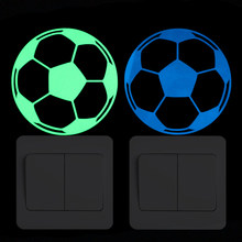 Luminous Football Switch Sticker Home Decor Wall Decoration Glow Sticker Boy Bedroom Bed Bookcase DIY Personalized Decal Sticker(China)