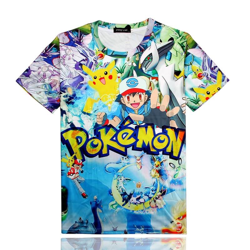 Pokemon Go Naruto Dragon Ball One Piece print 3d T Shirt Men 2018 Fashion Casual Mens Short Sleeve T-shirts Cheap Male Tops Tees