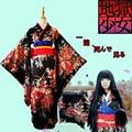 Хэллоуин Hell Girl Енма Ай Косплей Аниме Костюмы Длинные Рукава Mulitcolor женская кимоно Платье Костюмы Для Японских