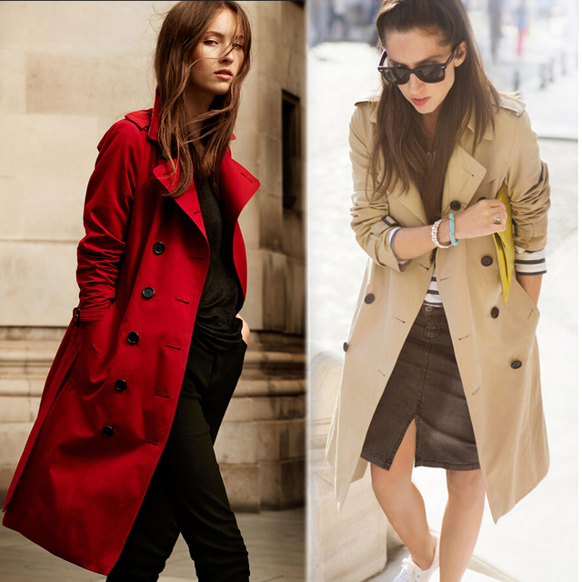 Autumn New Classic Double Breasted Waterproof Trench Coat 2