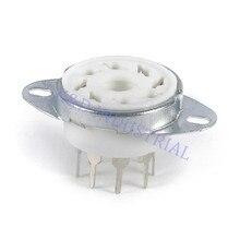 8pcs 8Pin K8A Octal Ceramic vacuum Tube Socket top mount new valve base
