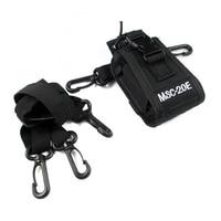 מכשיר הקשר MSC-20E Portable מכשיר הקשר ניילון Case Cover דיבורית מחזיק עבור Baofeng UV-9R TYT מוטורולה GP338 GP328 אייקום מכשיר הקשר (2)
