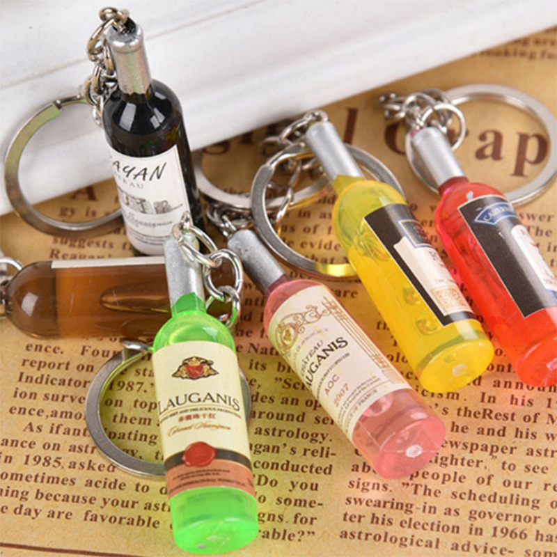 20pcs Novelty Wine Beer Bottle Pendant fit Keyring Earring Club Bar Jewelry