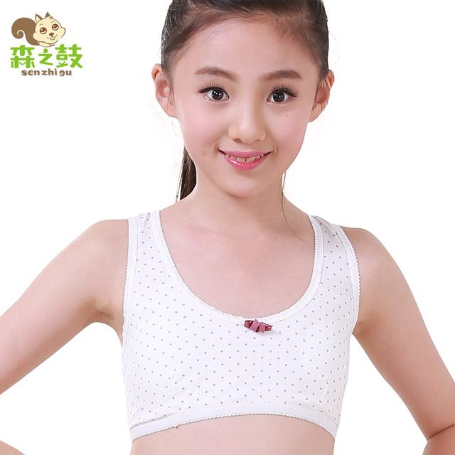 6121f26a6f Bras Real For Kids Girls Bra 2016 Girls  Underwear Cotton Rims Vest Type  Small Student Development Period The Sports Wholesale