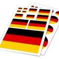 Alemão Deutsch Bandeira Alemanha DE Ho Car Auto Moto Decalque jogo da etiqueta scratch off cover ipad laptop notebook handy car Styling