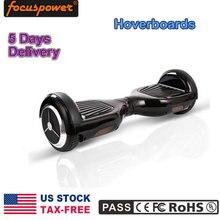 HOT REINO UNIDO EE.UU. FR NO Depósito FISCAL En Stock Hoverboard Patineta 2 Ruedas Equilibrio Scooter Eléctrico Con luz Led negro