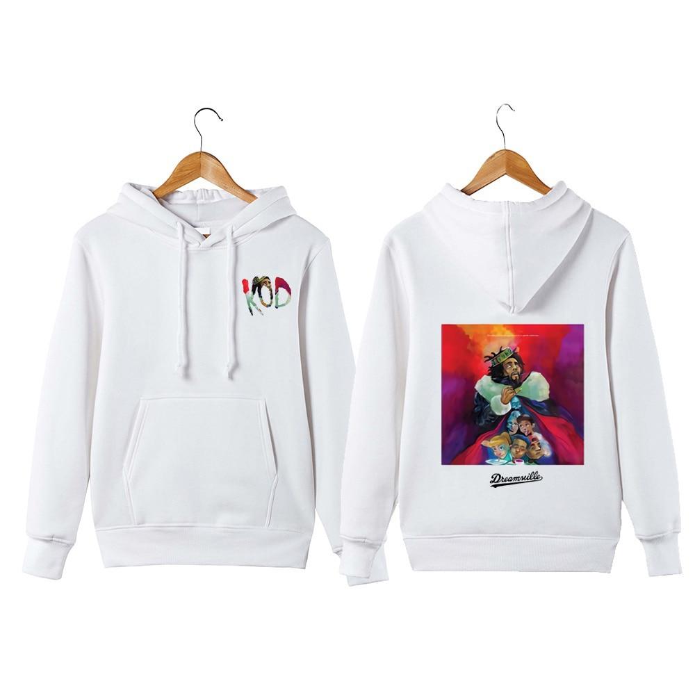 J Cole sweat à capuche chemise King Cole Dreamville hip hop KOD pull à capuche sweat-shirt