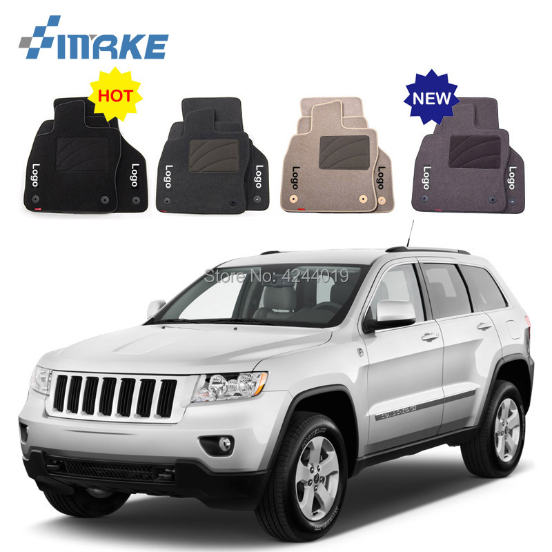 For Jeep Grand Cherokee Car Floor Mats Front Rear Carpet Complete Set Liner All Weather Waterproof Customized Car Styling for honda fit car floor mats front rear carpet complete set liner all weather waterproof customized car styling