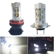 LED Fog Light LED Car Lights Front Fog Light Auto 12V-24V H4 H11 H7 60W 3535 LEDx12 60W 6500K -7000K White Light LED Bulb
