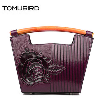 2020 new fashion women genuine leather handbags superior Embossing cowhide leather bag famous brand women bag