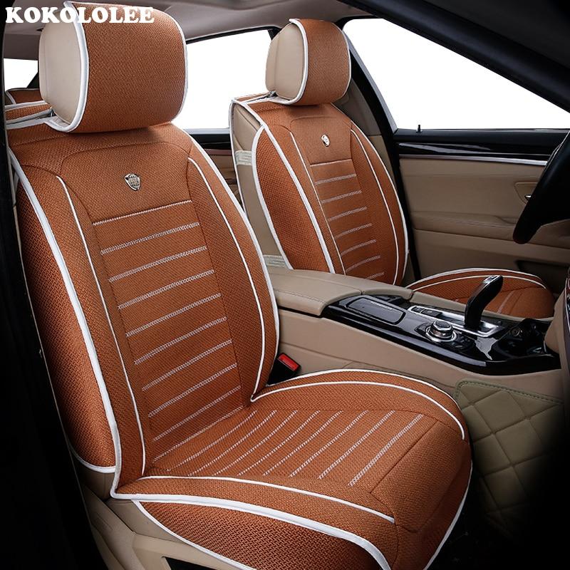 High quality flax car seat covers fit kia Rio 3 4 2017 2018 Sorento 2005 2007