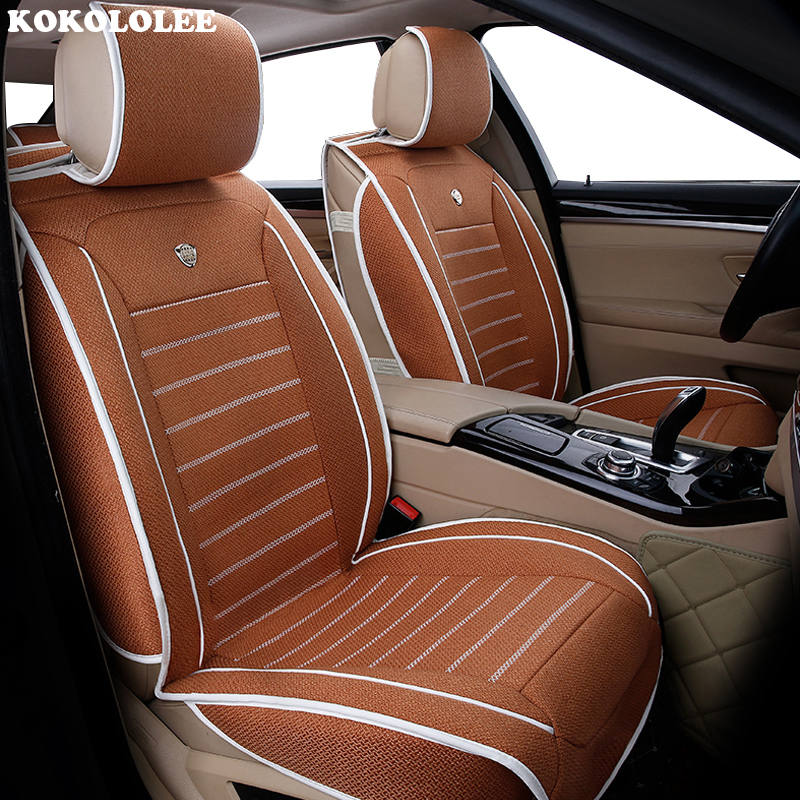 High quality flax car seat covers fit kia Rio 3 4 2017 2018 Sorento 2005 2007 2011 2013 2016 2017 soul spectra car styling