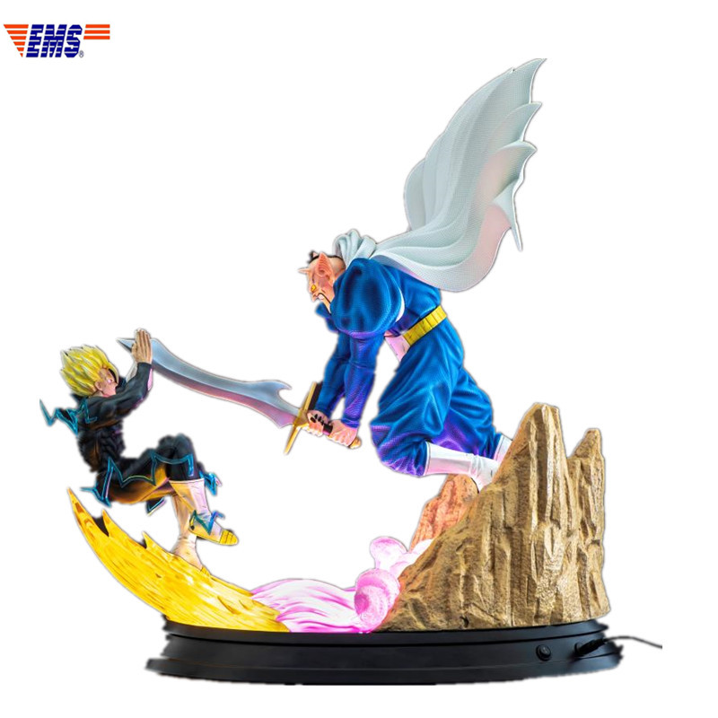 Presale Dragon Ball Dabura VS Gohan Battle Scenes Resin With LED Light Statue Model Toy (Delivery Period: 60 Days) X300