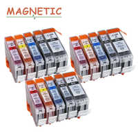 15X Colorful Ink Cartridge PGI520 CLI521 for Canon Pixma MP540 MP550 MP560 MP620 MP630 MP640 MP980 MP990 MX860 MX870 IP3600 520