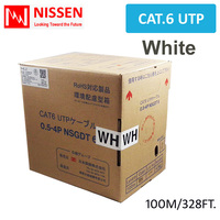 Cat6 328ft 100M OFC UTP NETWORK ETHERNET CABLE 350MHz 24 AWG LAN Real GigaSpeed White