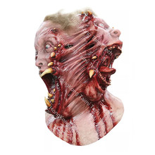 Fission Latex Mask Scary Horror Halloween Masks Demon Parasite Zombie Vampire terror realista Tear Double Face Sides