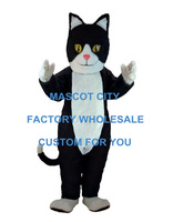 Black & White Cat Mascot Costume Cartoon Character Adult Size Theme Carnival Party Cosply Mascotte Outfit Suit SW979