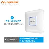 COMFAST Wireless AP CF E355AC V2 1200Mbps Ceiling AP 802.11AC Indoor AP Open wrt dd WRT WIFI router 48V POE WiFi Access Point AP