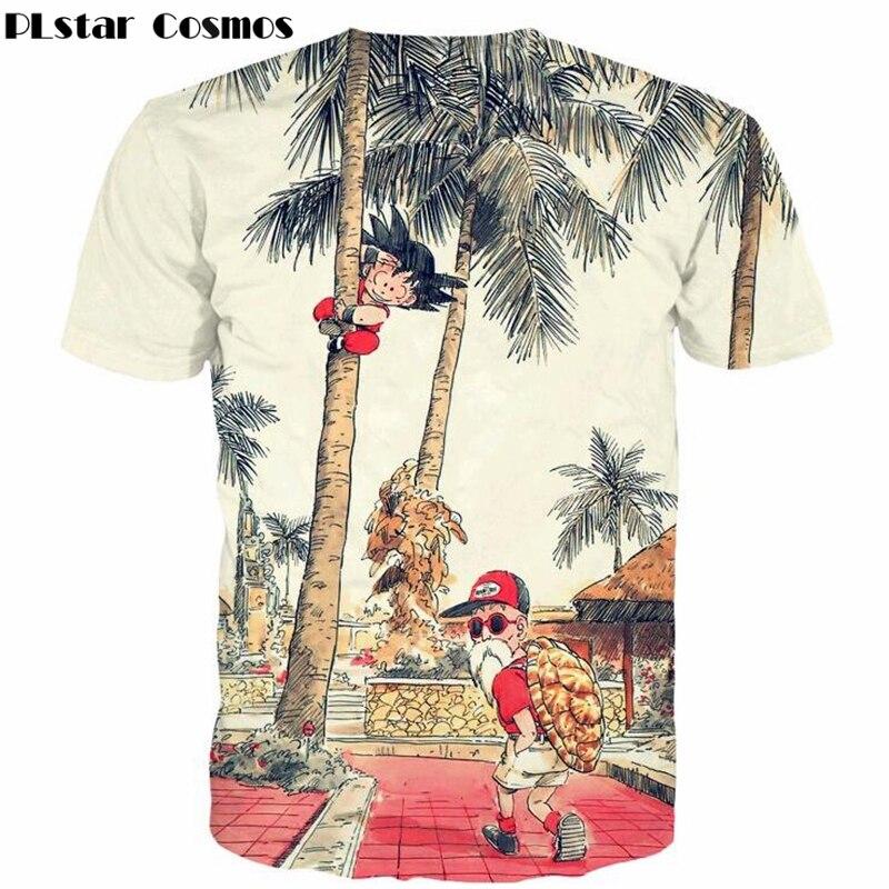 Plstar cosmos cute kid goku and cool master roshi 3d print t shirt anime dragon ball z t shirts summer men women vintage t shirt-1