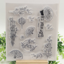 1 sheet DIY Japan Cherry blossoms and Birds Design Transparent Clear Rubber Stamp Seal Paper Craft Scrapbooking Decoration
